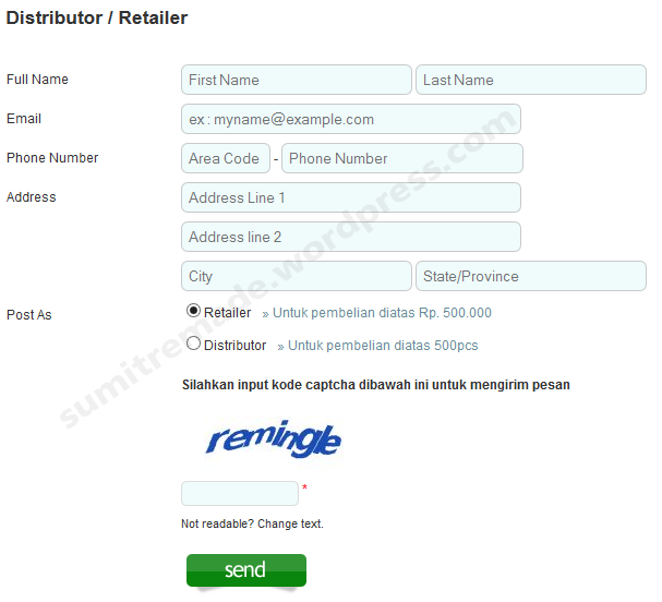 Form Distributor/ retailer